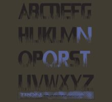 tron alphabet tshirt by roger bros by tron2010