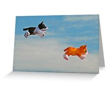 The big mouse hunt in the sky Greeting Card