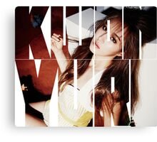 Girls' Generation (SNSD) Kwon Yuri 'Lion Heart' Canvas Print