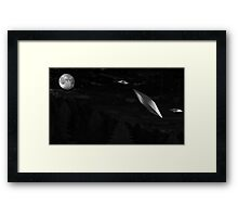 Flying Saucers! Framed Print