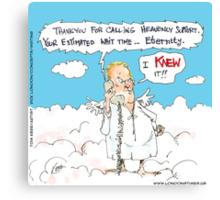 Customer Service In Heaven Canvas Print