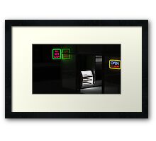Sushi Store at 2am Framed Print