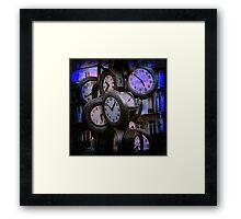 Clocks at Dusk Framed Print