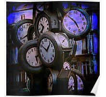 Clocks at Dusk Poster