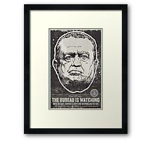 FBI J Edgar Hoover Propaganda Print Framed Print
