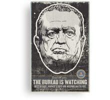 FBI J Edgar Hoover Propaganda Print Canvas Print