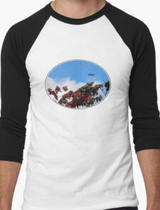 As the season flies by ('Leaf'ing below a jet plane) Men's Baseball ¾ T-Shirt