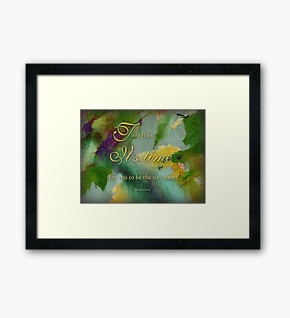 the navigator - wisdom saying no. 4 Framed Print