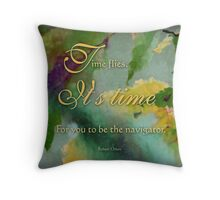 the navigator - wisdom saying no. 4 Throw Pillow