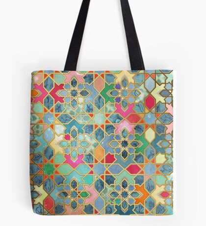 Gilt & Glory - Colorful Moroccan Mosaic Tote Bag