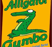 Alligator Gumbo Cartoon by JKSchwehm