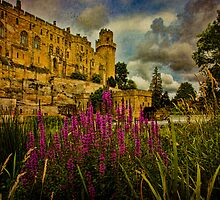 The River Avon Flows Past England's Warwick Castle by Chris Lord