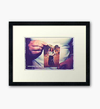 hands remember.  Framed Print