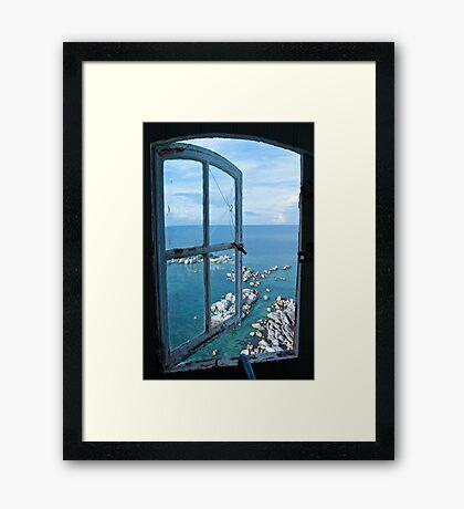 Miniatures through the window Framed Print