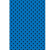 Polkadots Blue and Black Photographic Print