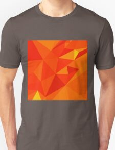 Carrot Orange Abstract Low Polygon Background T-Shirt