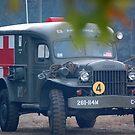 wwii Ambulance by Steven Squizzero
