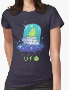 Volcano playing organo! Womens Fitted T-Shirt