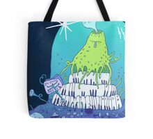 Volcano playing organo! Tote Bag