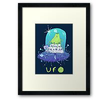 Volcano playing organo! Framed Print
