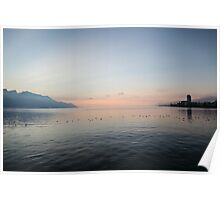 Sunset over Lake Geneva Poster