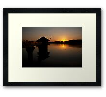 Sunset at  Cropston Reseviour  Framed Print