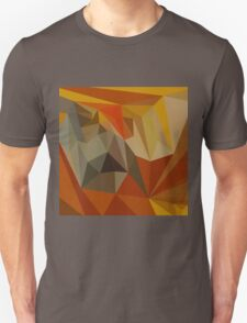 Mahogany Brown Abstract Low Polygon Background T-Shirt