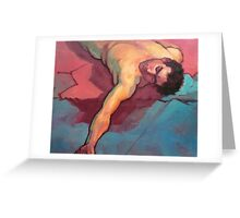 Fallen man Greeting Card