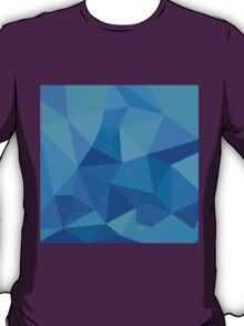 Moonstone Blue Abstract Low Polygon Background T-Shirt