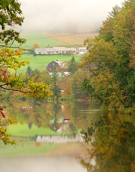 Vermont Countryside Reflections by Stephen Knowles