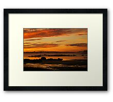 Seasmoke at Dawn Framed Print