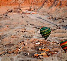 Aerial View Deir El-Bahri by warriorprincess