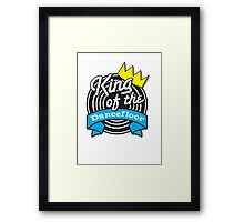 King of the DANCEFLOOR with record billboard Framed Print