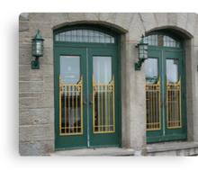 Doors of the Fairmont le Chateau Frontenac Canvas Print