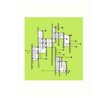 Abstract Geometric Line Drawing Art Print