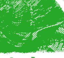 slow is beautiful - green Sticker