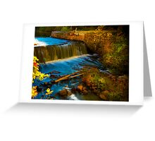 Walpole Town Forest III - Little water fall Greeting Card