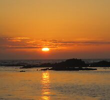 Sunset in Galapagos by Angela Creighton