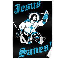 Jesus Saves Hockey Team Poster
