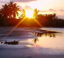 Sunset Galapagos by Angela Creighton