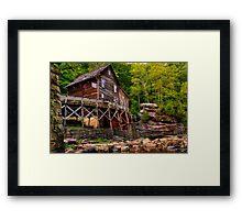 Glade Creek Mill from Below Framed Print