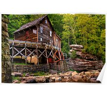 Glade Creek Mill from Below Poster