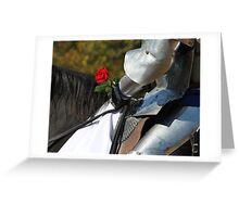 A Knight's Favor Greeting Card