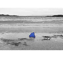 Blue Glass Seascape Photographic Print