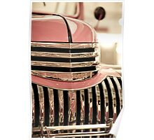 Pink Chevy Truck Poster