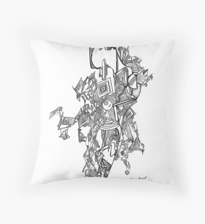 Gaia, pigment ink on paper Throw Pillow