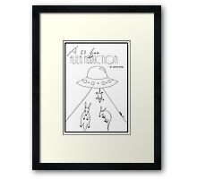 A is for Alien Abduction of Aardvarks Framed Print