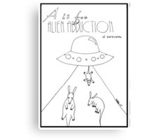 A is for Alien Abduction of Aardvarks Canvas Print