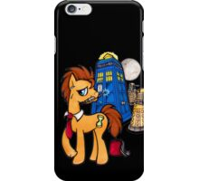 Doctor Whooves - Black iPhone Case/Skin