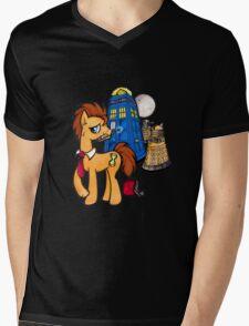 Doctor Whooves - Black Mens V-Neck T-Shirt
